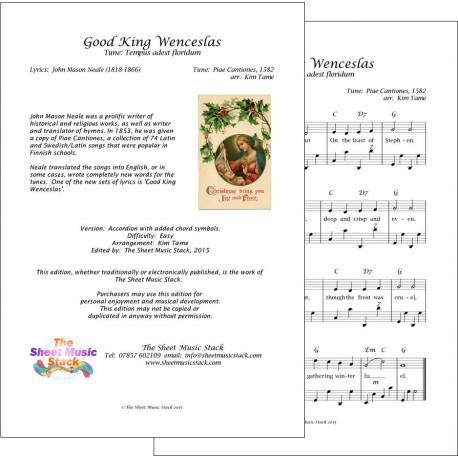 Good King Wenceslas - Accordion