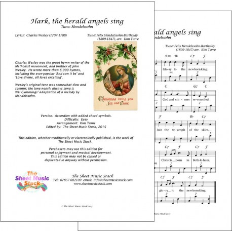 Hark the herald angels sing - Accordion