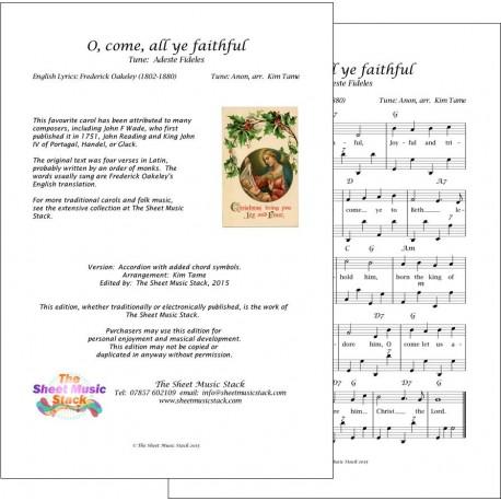 O come, all ye faithful - Accordion