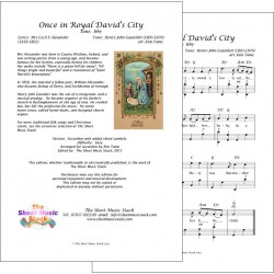 Once in royal David's city - Accordion