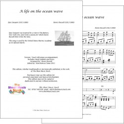 A life on the ocean wave - Russell/Sargent - Piano