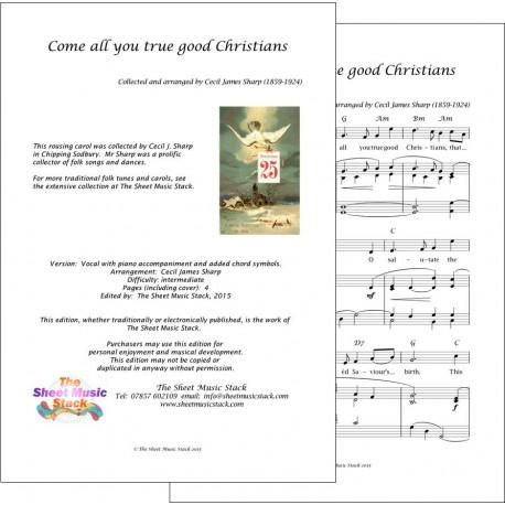 Come all you true good Christians - Piano