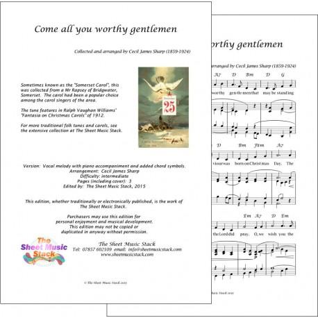 Come all you worthy gentlemen - Piano