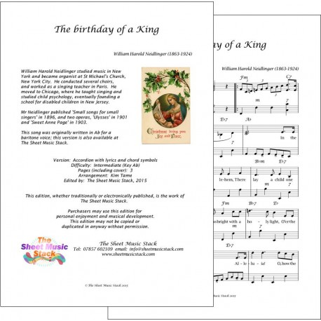 Birthday of a King in Ab - Accordion