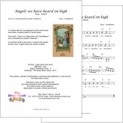 Angels we have heard on high - Lead sheet