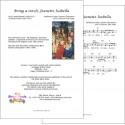 Bring a torch, Jeannette Isabella - Lead sheet