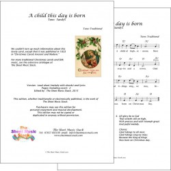 A child this day is born - Lead Sheet