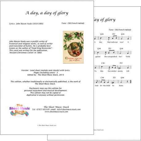 A day, a day of glory - Lead Sheet