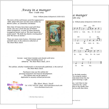 Away in a manger (Cradle song) - Lead sheet