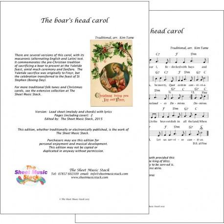 The Boar's Head carol - Lead Sheet