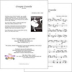 Creepie-crawlie - Felix Burns - Lead sheet