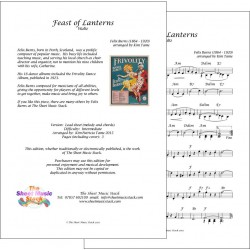 Feast of Lanterns - Felix Burns - Lead Sheet