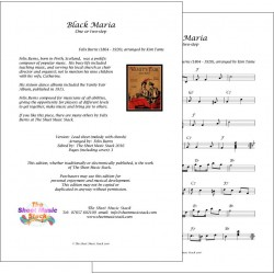 Black Maria - Felix Burns - Lead Sheet