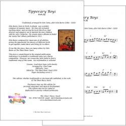 Tipperary Boys - Felix Burns - lead sheet