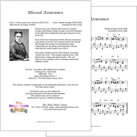 Blessed Assurance - Accordion