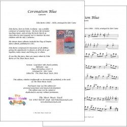 Coronation Blue - Felix Burns - Lead sheet
