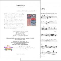 Table Bay Schottische - Felix Burns - Lead sheet