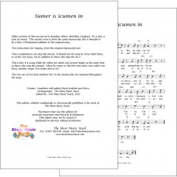 Sumer is Icumen In - (song) lead sheet