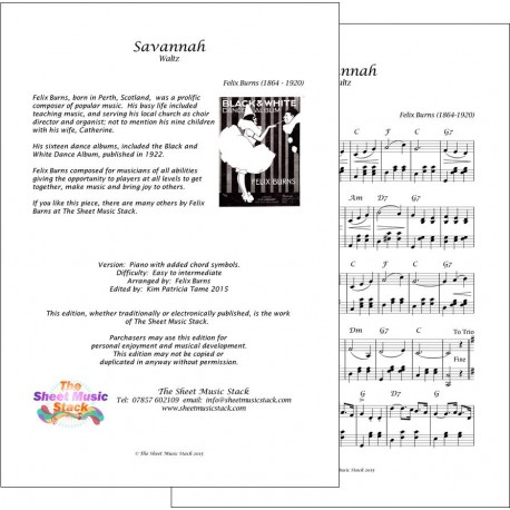 Savannah - Piano