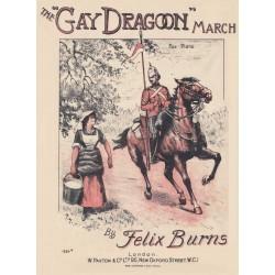 The Gay Dragoon March - Felix Burns - Lead sheet