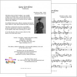 Gay Gordons - Felix Burns - lead sheet