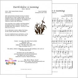 Earth below is teeming (Harvest) - Accordion