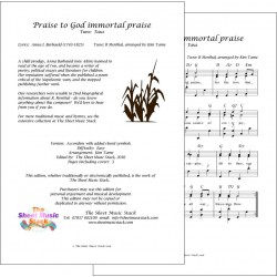 Praise to God Immortal Praise (Taxa) - Accordion