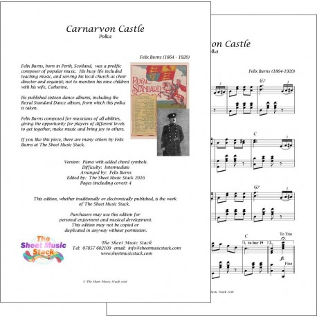 Carnarvon Castle - Felix Burns - piano