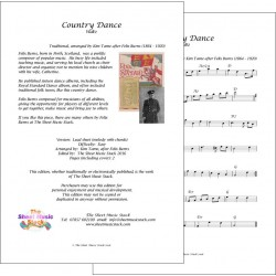 Country dance - Traditional (Felix Burns) - lead sheet