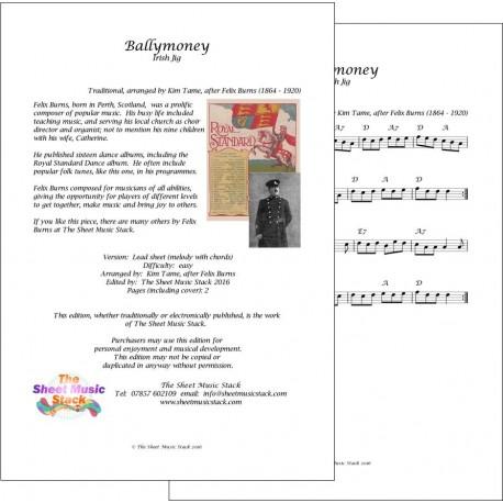 Ballymoney - Traditional (Felix Burns) - lead sheet