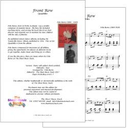 Front Row - Felix Burns - piano
