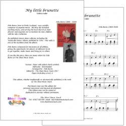 My little brunette - Felix Burns - piano