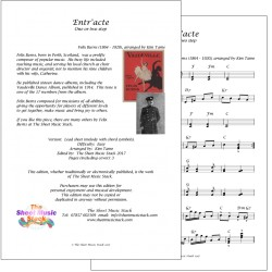 Entr'acte - Felix Burns - lead sheet