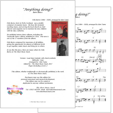 Anything Doing - Felix Burns - lead sheet