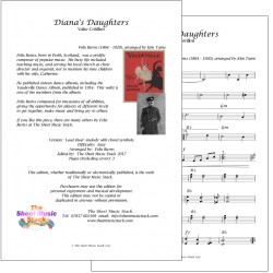 Diana's Daughters - Felix Burns - lead sheet