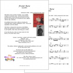 Front Row - Felix Burns - lead sheet