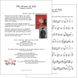 The Drums of Fife - Felix Burns - lead sheet