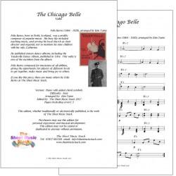 The Chicago Belle - Felix Burns - lead sheet