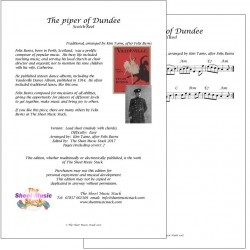 The Piper of Dundee reel - Felix Burns - lead sheet