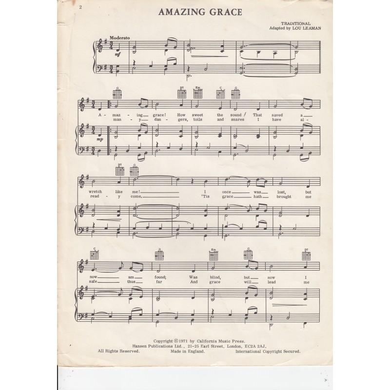Amazin Grace, Sheet Music