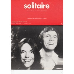 Solitaire - Neil Sedaka - The Carpenters - sheet music