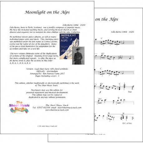 Moonlight on the Alps - Felix Burns - Lead sheet