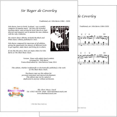Sir Roger de Coverley - Felix Burns - Piano