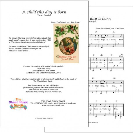 A child this day is born - Accordion