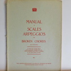 Manual of scales, arpeggios and broken chords for piano