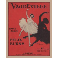 Felix Burns' Vaudeville Dance Album - Lead sheets
