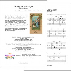Away in a manger (Cradle song) - Accordion