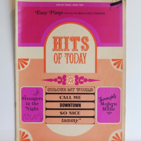 Hits of today for easy piano