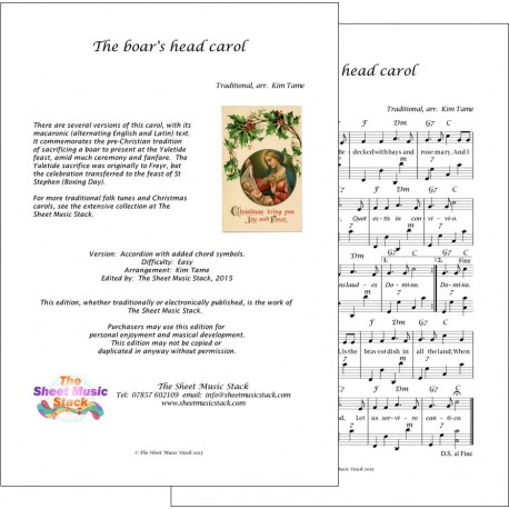 The Boar's Head carol - Accordion