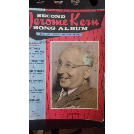 Second Jerome Kern Song album sheet music vocal piano